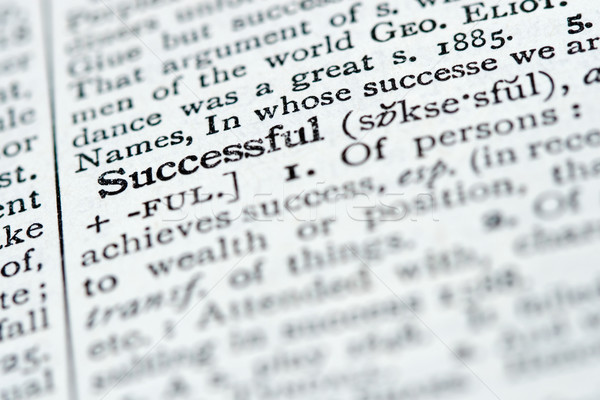 Dictionary Definition - Successful Stock photo © cmcderm1