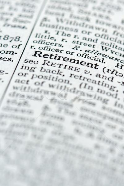 Dictionnaire définition retraite affaires mot orthographe Photo stock © cmcderm1