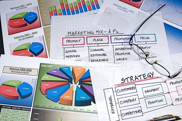 Stockfoto: Business · charts · grafieken · ontwerp · bril