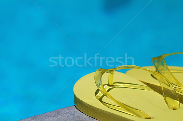 Yaz renkli aile dört yüzme havuzu su Stok fotoğraf © cmcderm1