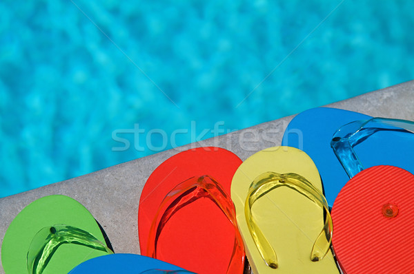 Stock foto: Sommer · Familie · vier · Schwimmbad · Wasser