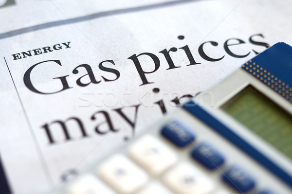 Energie hoog prijs benzine nieuws brandstof Stockfoto © cmcderm1