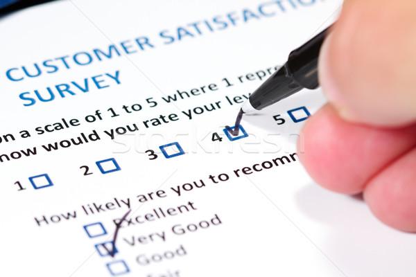 Cliente estudio cuestionario satisfacción del cliente negocios datos Foto stock © cmcderm1