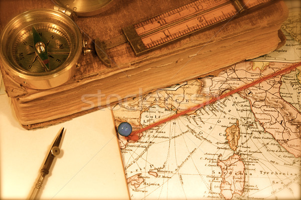 Stock photo: Vintage Map and Chart