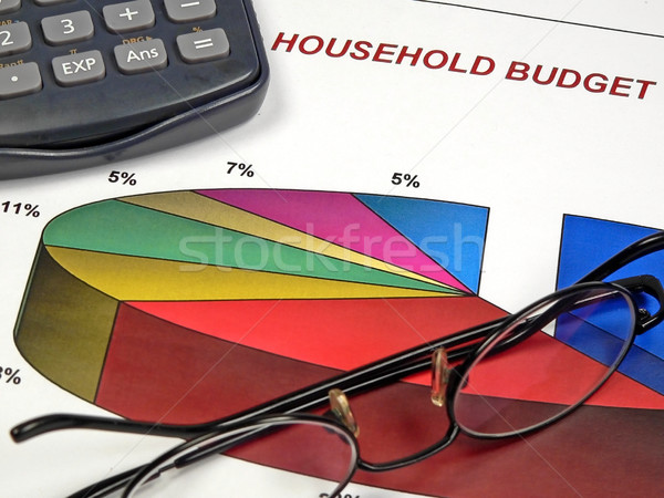 Business cirkeldiagram kleur calculator boekhouding project Stockfoto © cmcderm1