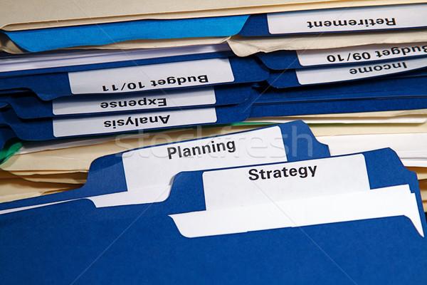 бизнеса полный документы папке Сток-фото © cmcderm1