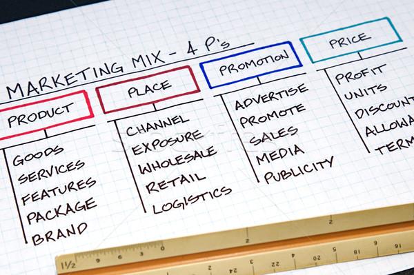 Business charts grafieken ontwerp corporate Stockfoto © cmcderm1