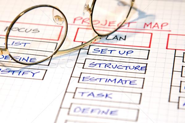 Iş İş stratejisi grafikler kâğıt dizayn Stok fotoğraf © cmcderm1