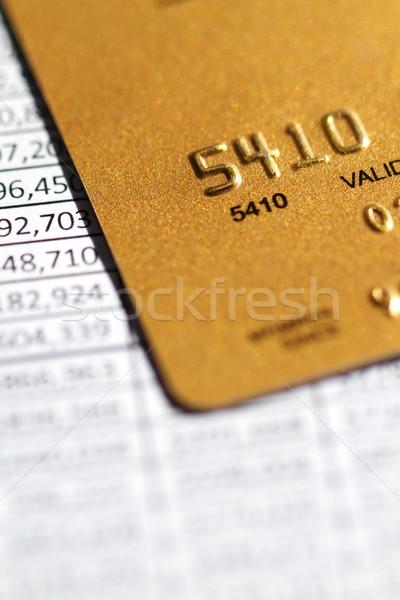 Financieren creditcard factuur financiële nummers business Stockfoto © cmcderm1