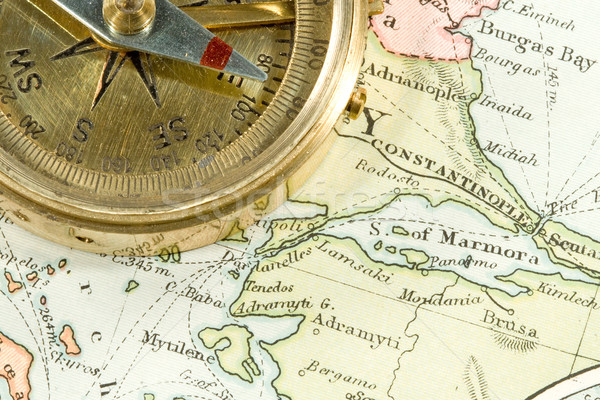 Antigo mapa vintage países comércio Foto stock © cmcderm1