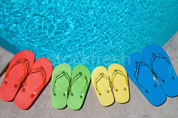 Stock photo: Summer Flipflops