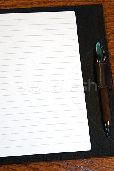 Stockfoto: Tijdschrift · pagina · dagboek · klaar · tekst