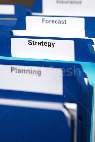 Affaires dossiers placard plein documents dossier Photo stock © cmcderm1