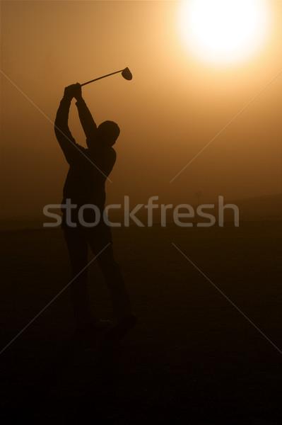гольфист утра солнечный свет Сток-фото © cmcderm1