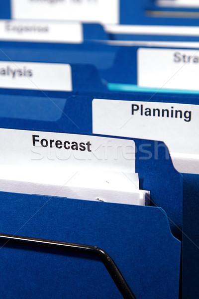 Business mappen kabinet vol documenten map Stockfoto © cmcderm1