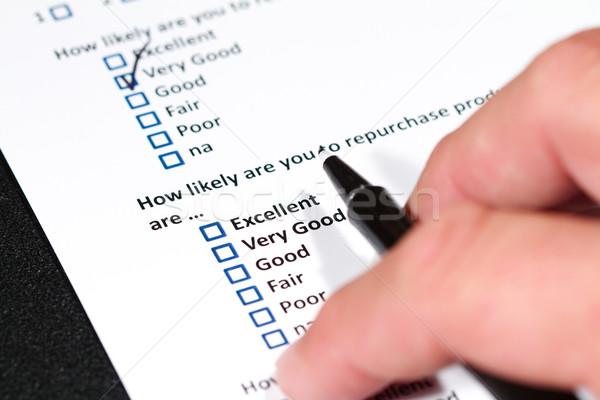 Client enquête questionnaire affaires marketing Photo stock © cmcderm1