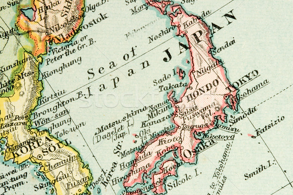 антикварная карта Vintage торговли Сток-фото © cmcderm1