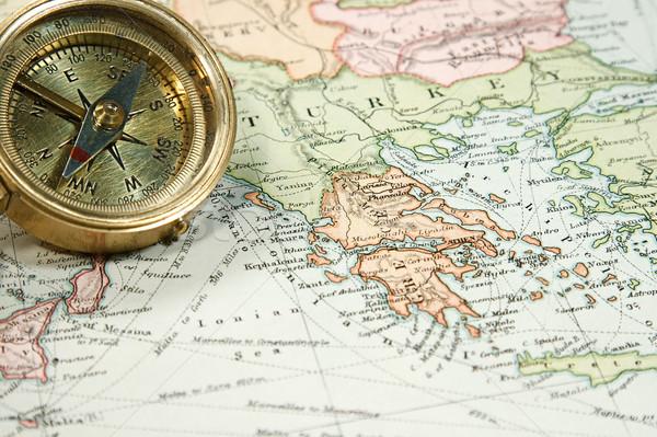 Bağbozumu harita grafik Avrupa Asya antika Stok fotoğraf © cmcderm1