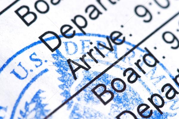 Beszállás passz légitársaság nyilvános fóka utazás Stock fotó © cmcderm1