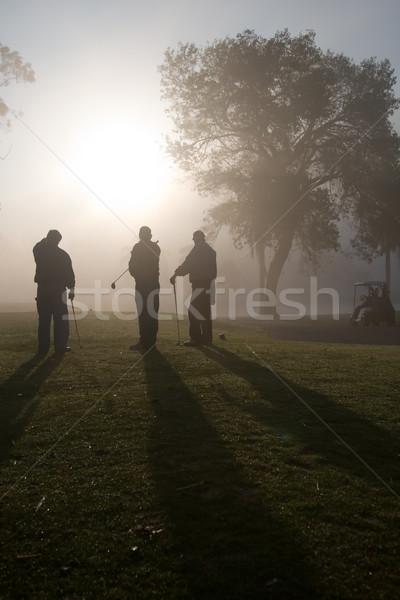 Morning Golfers Stock photo © cmcderm1