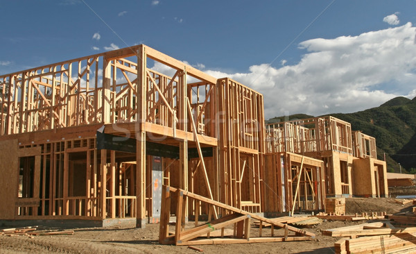 Stock photo: New Home Construction