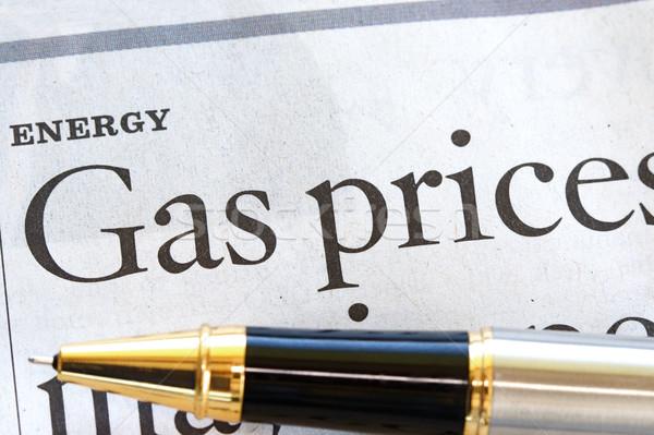 Enerji yüksek fiyat benzin haber iş Stok fotoğraf © cmcderm1