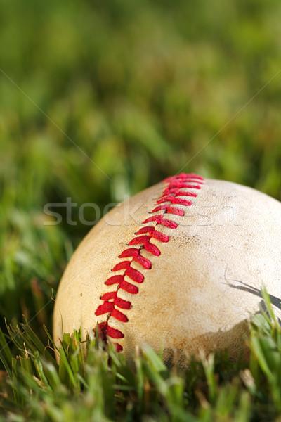 Stok fotoğraf: Beysbol · makro · görmek · kullanılmış