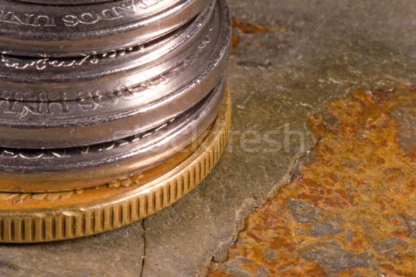 Financiële munten internationale valuta rond wereld Stockfoto © cmcderm1