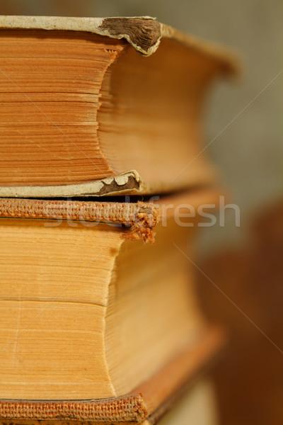 Vintage livros resistiu antigo Foto stock © cmcderm1
