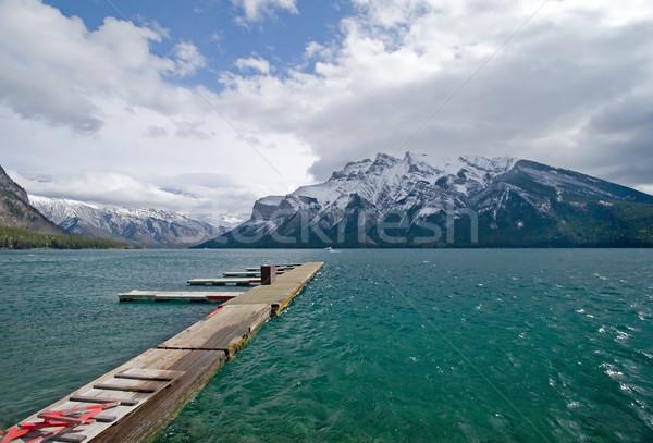 Rocky Mountain Lake Stock photo © cmcderm1