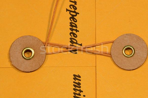 Memorándum dotación cadena oficina carpeta amarillo Foto stock © cmcderm1