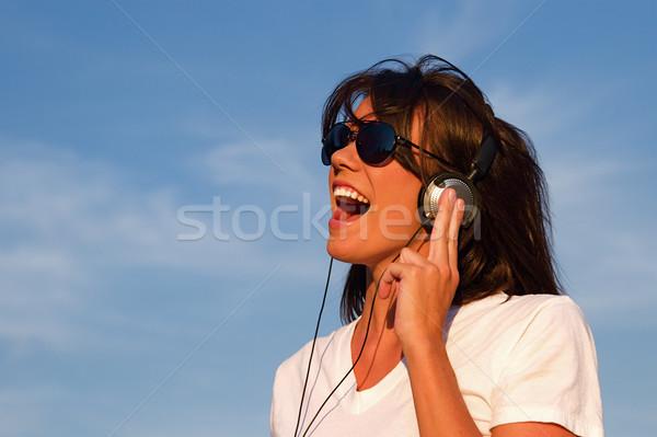 музыку наушники Cool молодые звук Сток-фото © cmcderm1