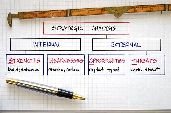 бизнеса анализ Бизнес-стратегия бумаги карта Сток-фото © cmcderm1