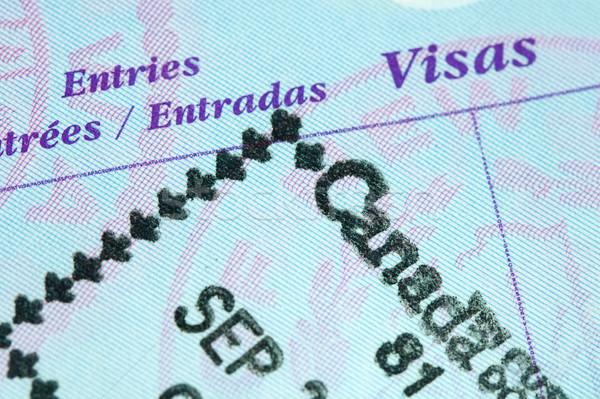 Passport Stamp Stock photo © cmcderm1