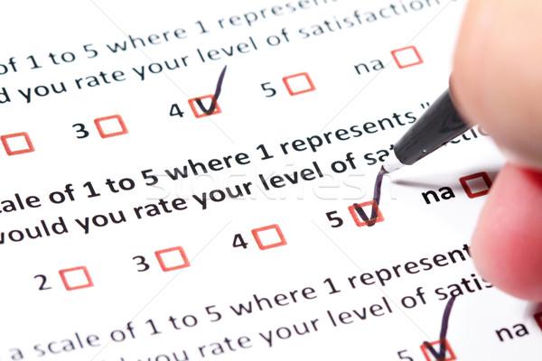Cliente exame questionário satisfação do cliente negócio marketing Foto stock © cmcderm1