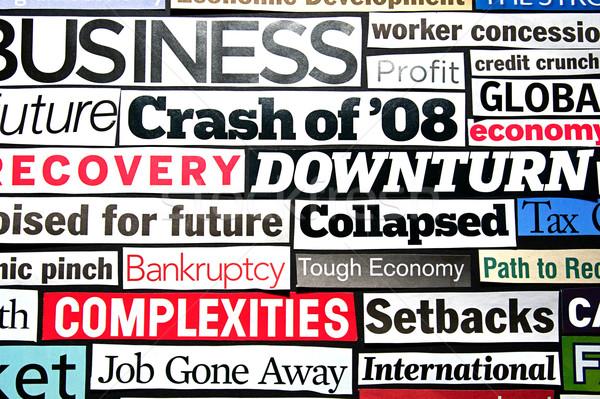 Economisch krant magazine recessie genezing Stockfoto © cmcderm1