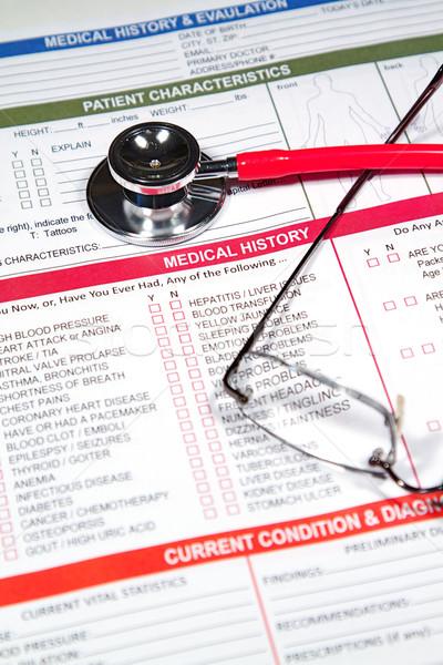 Stockfoto: Medische · geschiedenis · vorm · artsen · stethoscoop