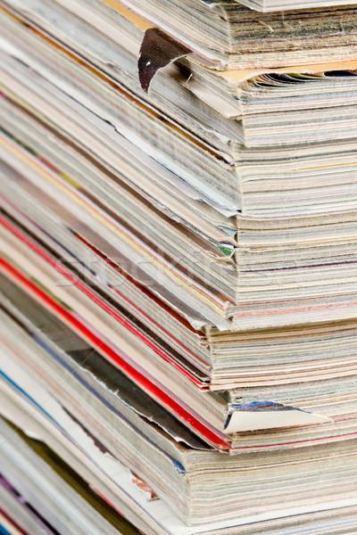 Stack of Magazines Stock photo © cmcderm1