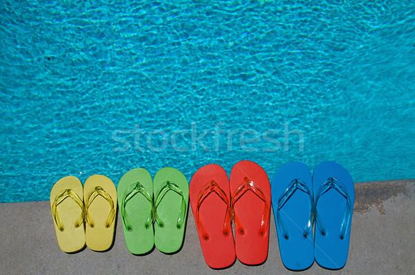 Summer Flipflops Stock photo © cmcderm1