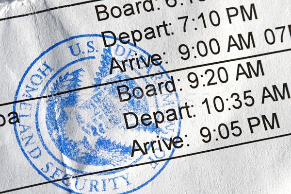 Abbordaggio compagnia aerea pubblico sigillo viaggio Foto d'archivio © cmcderm1