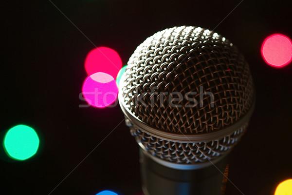 Microfoon fase populair kunstenaar plek lichten Stockfoto © cmcderm1