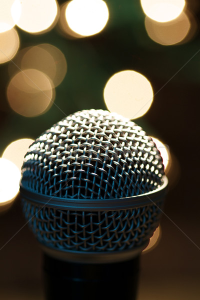 микрофона этап популярный художник место фары Сток-фото © cmcderm1