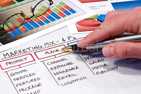 Business charts grafieken toetsenbord financieren Stockfoto © cmcderm1
