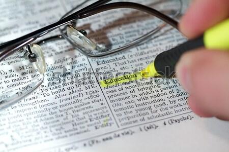 Sözlük sözler görmek iş kelime Stok fotoğraf © cmcderm1