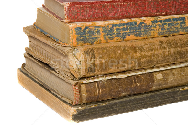 Livres vieux rare antique librairie portable Photo stock © cmcderm1
