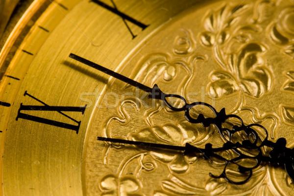 Antique Clock Face Stock photo © cmcderm1