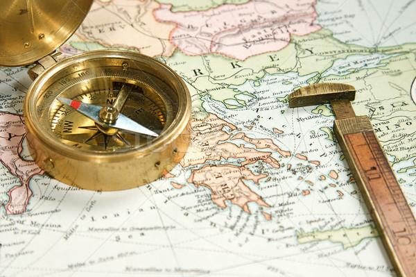 Bağbozumu harita grafik Avrupa Asya tarih Stok fotoğraf © cmcderm1