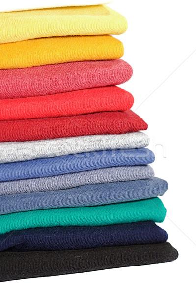 Vestiti colorato shelf texture Foto d'archivio © cmcderm1