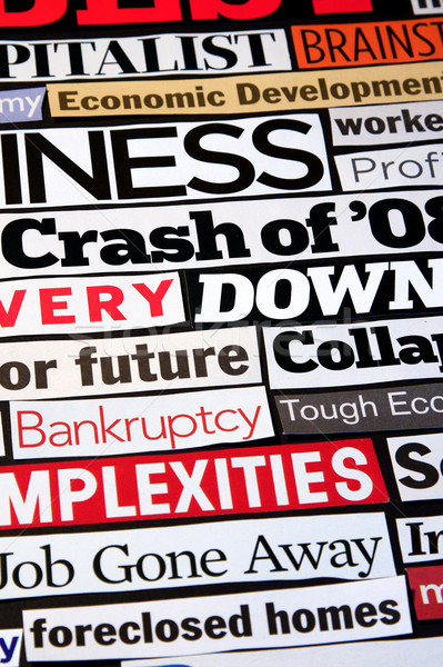 Economic Headlines Stock photo © cmcderm1