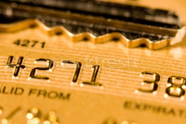 Stock fotó: Hitelkártya · biztonság · közelkép · kredit · debitkártya · bank